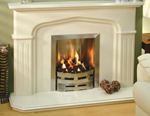 New Image Palermo Marble Fireplace