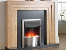 Plomo Black Electric Fire Suite