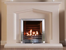 Swinford Stone Fireplace in limestone by Capital Fireplaces