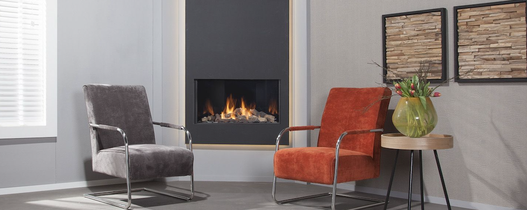 Faber contemporary gas fire
