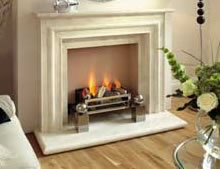 Montpellier Marble Monte Carlo Fireplace
