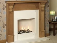 Oak Imperial Timber Fireplace