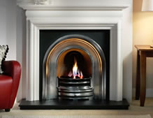 Gallery Collection Crown half polished with Asquith Limestone surround