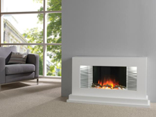 Flamerite Penne Blanca electric fireplace