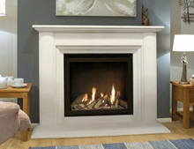 Newam Vision Ultra HE Gas Fire with Estoril fireplace